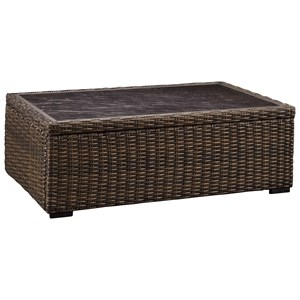 Rectangular Resin Wicker Cocktail Table