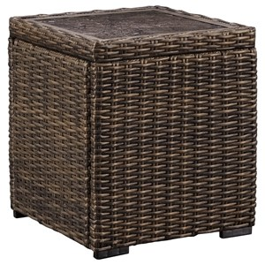 Resin Wicker Square End Table