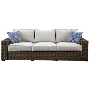 Contemporary Outdoor Sofa with Cushion