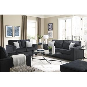 Sofa, Chair and Ottoman Set
