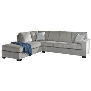 2 Piece Right Arm Facing Sofa, Left Arm Facing Chaise Sectional Sofa and Chair Set