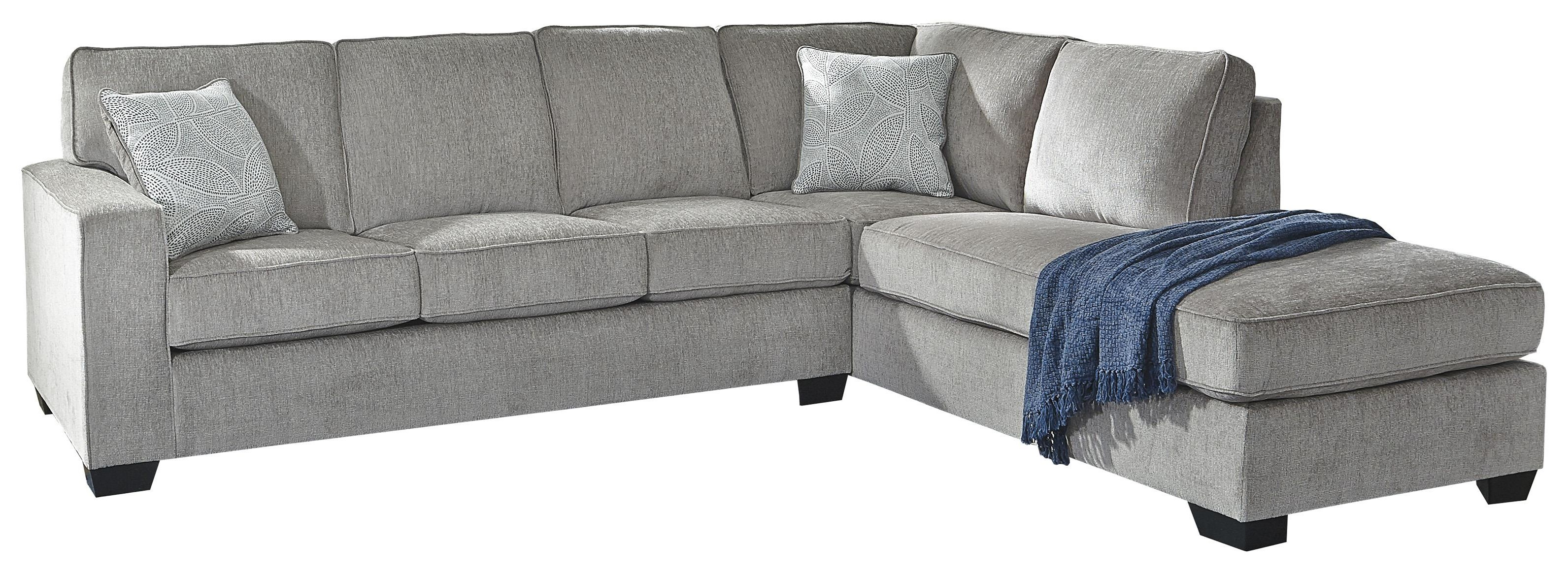 2 PC Sectional, hair and Ottoman Set