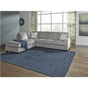 2 PC Sectional and Recliner Set