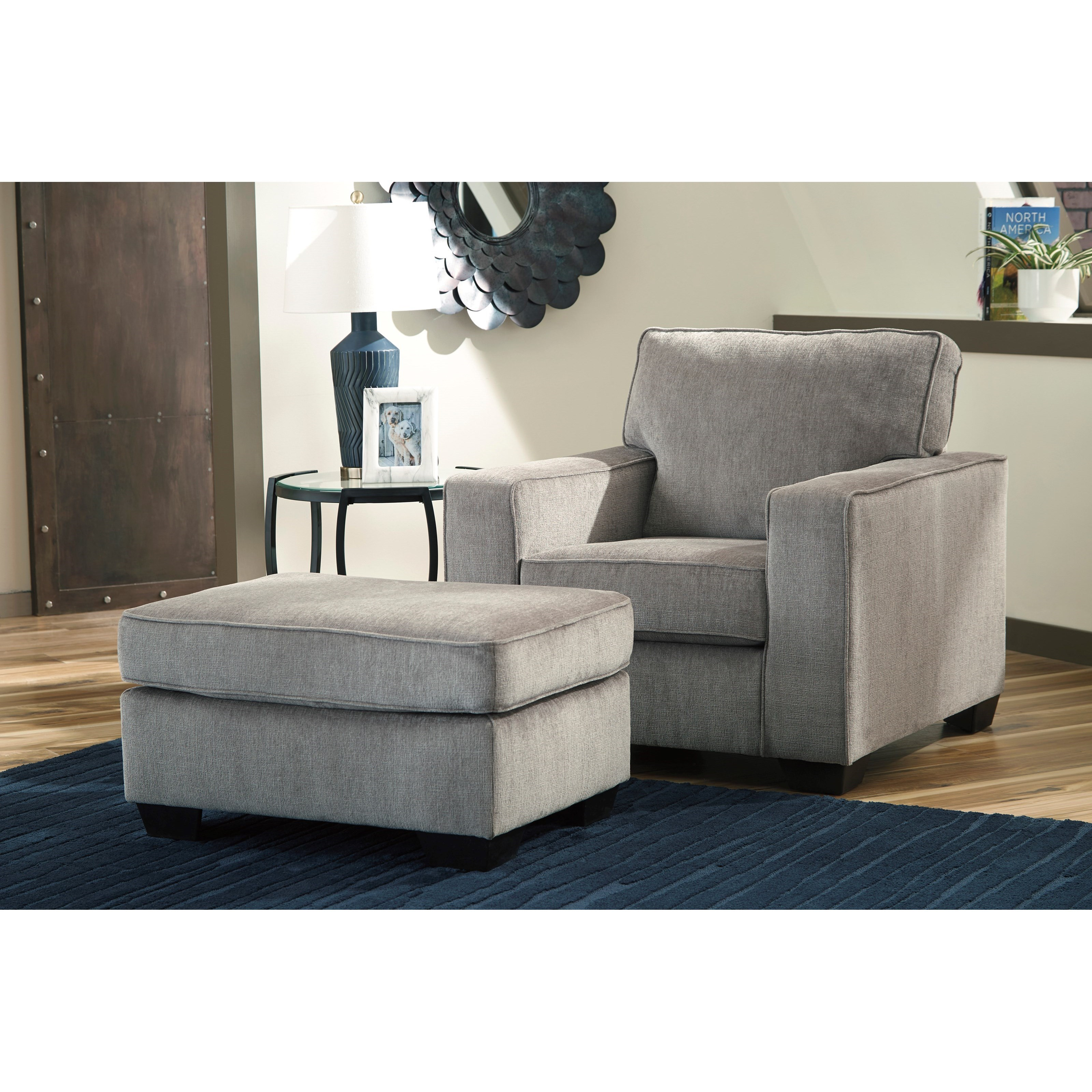 Altari Chair and Ottoman by Signature Design by Ashley at Sparks HomeStore