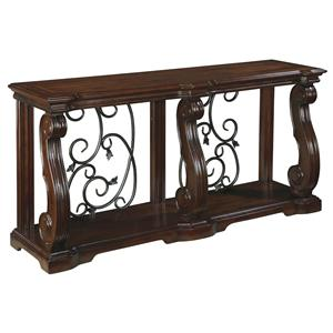 Traditional Sofa Table with 1 Shelf
