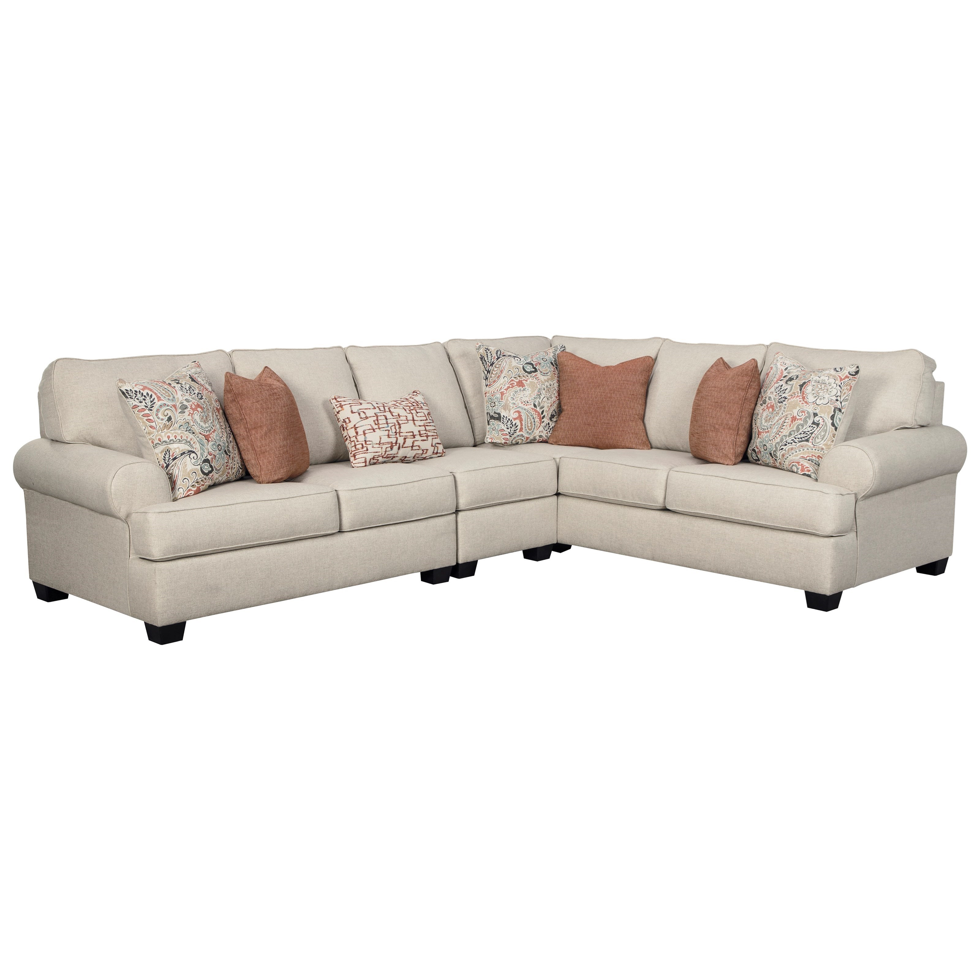 Amici 3-Piece Sectional by Signature Design by Ashley at Beds N Stuff