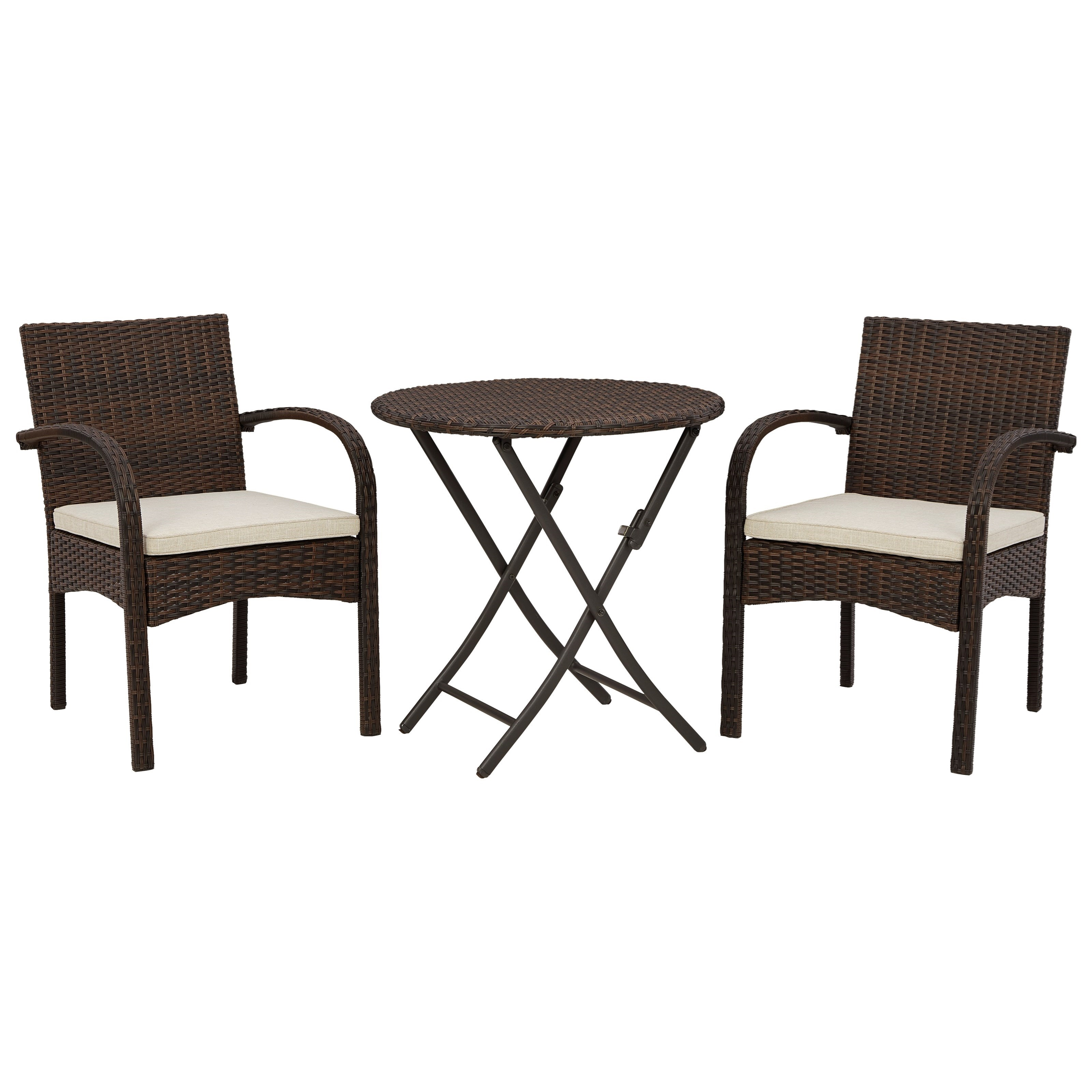Anchor Lane 3-Piece Table & Chairs with Cushion Set by Signature Design by Ashley at Furniture and ApplianceMart