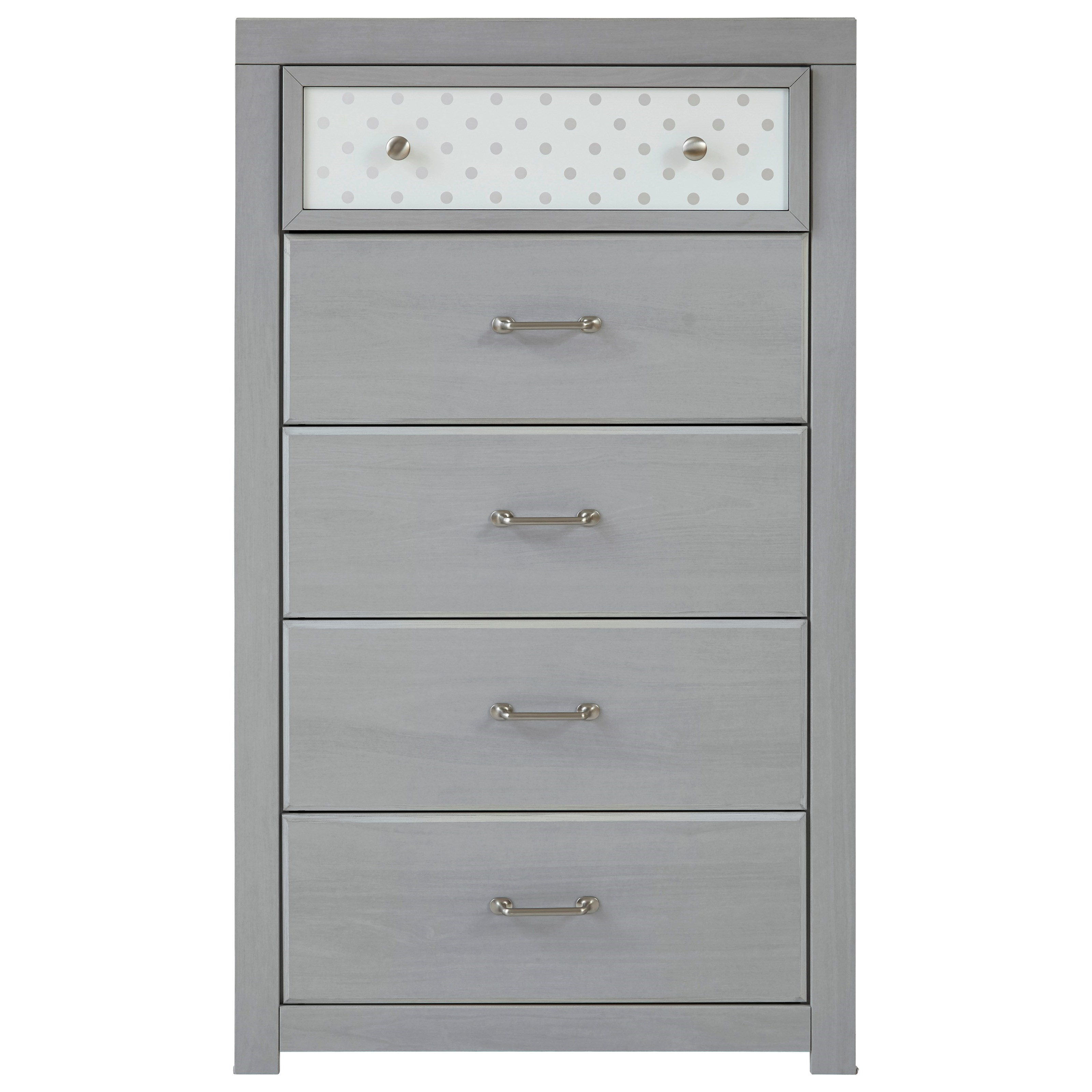 Arcella 5-Drawer Chest by Signature Design at Fisher Home Furnishings