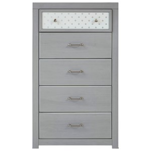 5-Drawer Chest with Reversible Panel