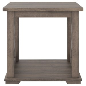 Farmhouse Style Square End Table