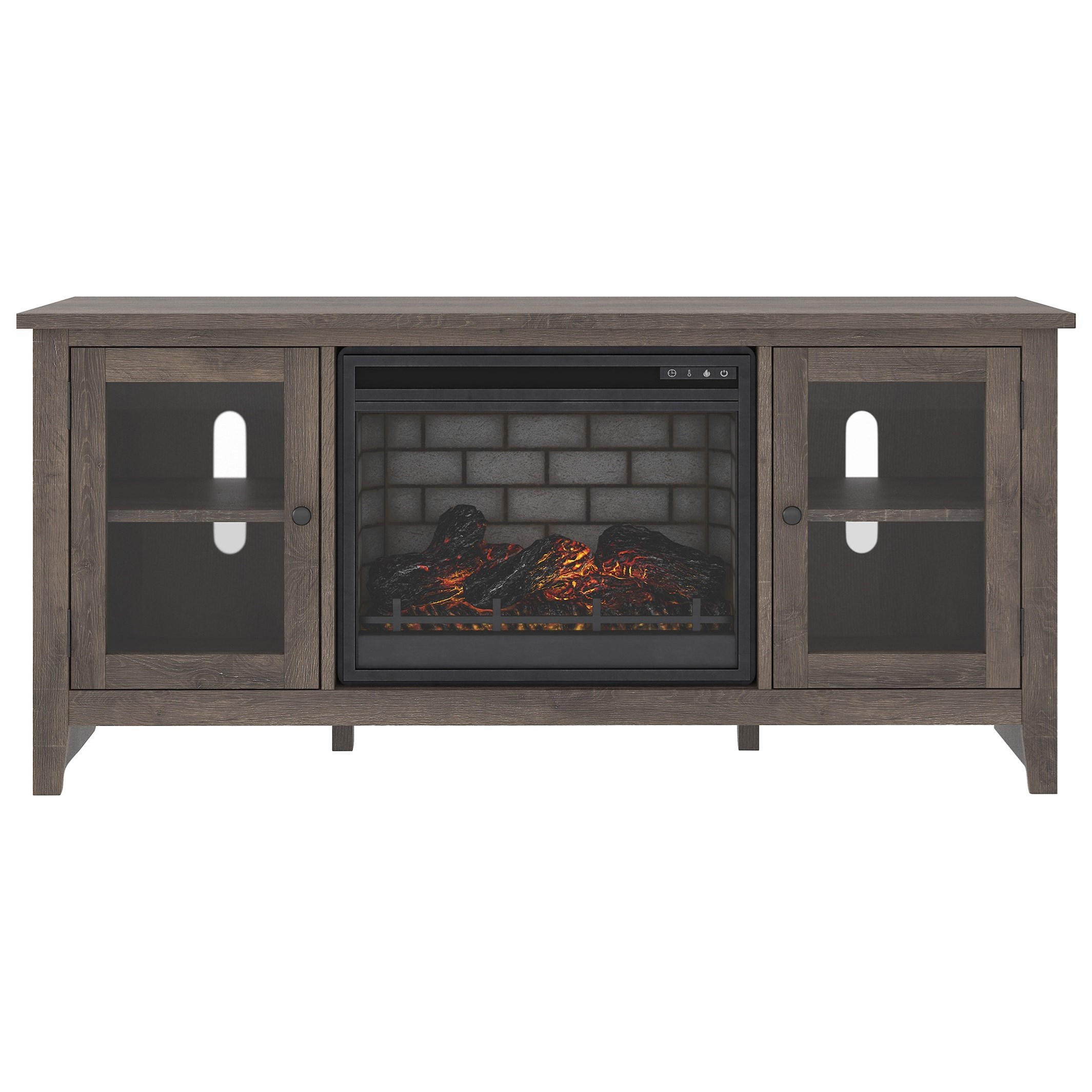 Arlenbry Large TV Stand w/ Fireplace Insert by Signature Design by Ashley at Lapeer Furniture & Mattress Center
