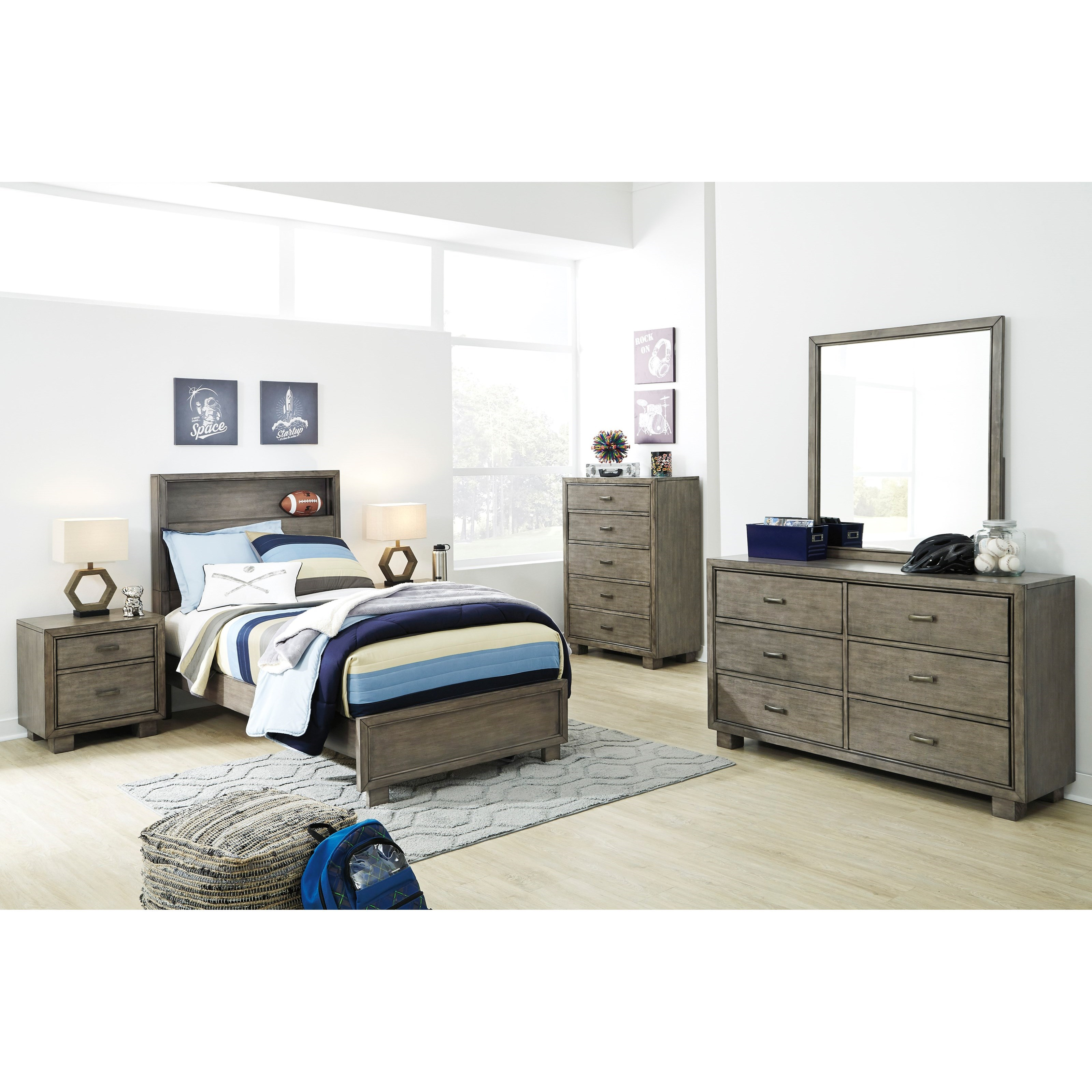 Arnett Twin Bedroom Group by Signature Design by Ashley at Standard Furniture