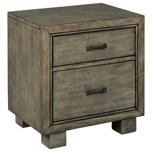 Contemporary 2 Drawer Nightstand