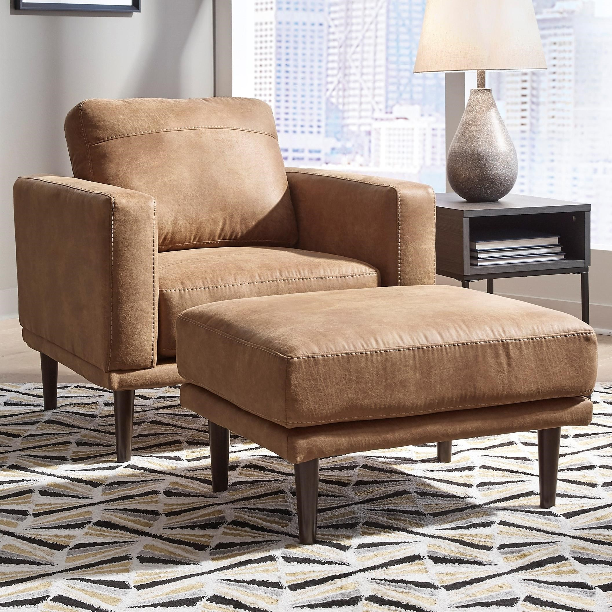 Arroyo RTA Chair & Ottoman by Signature Design by Ashley at Simply Home by Lindy's