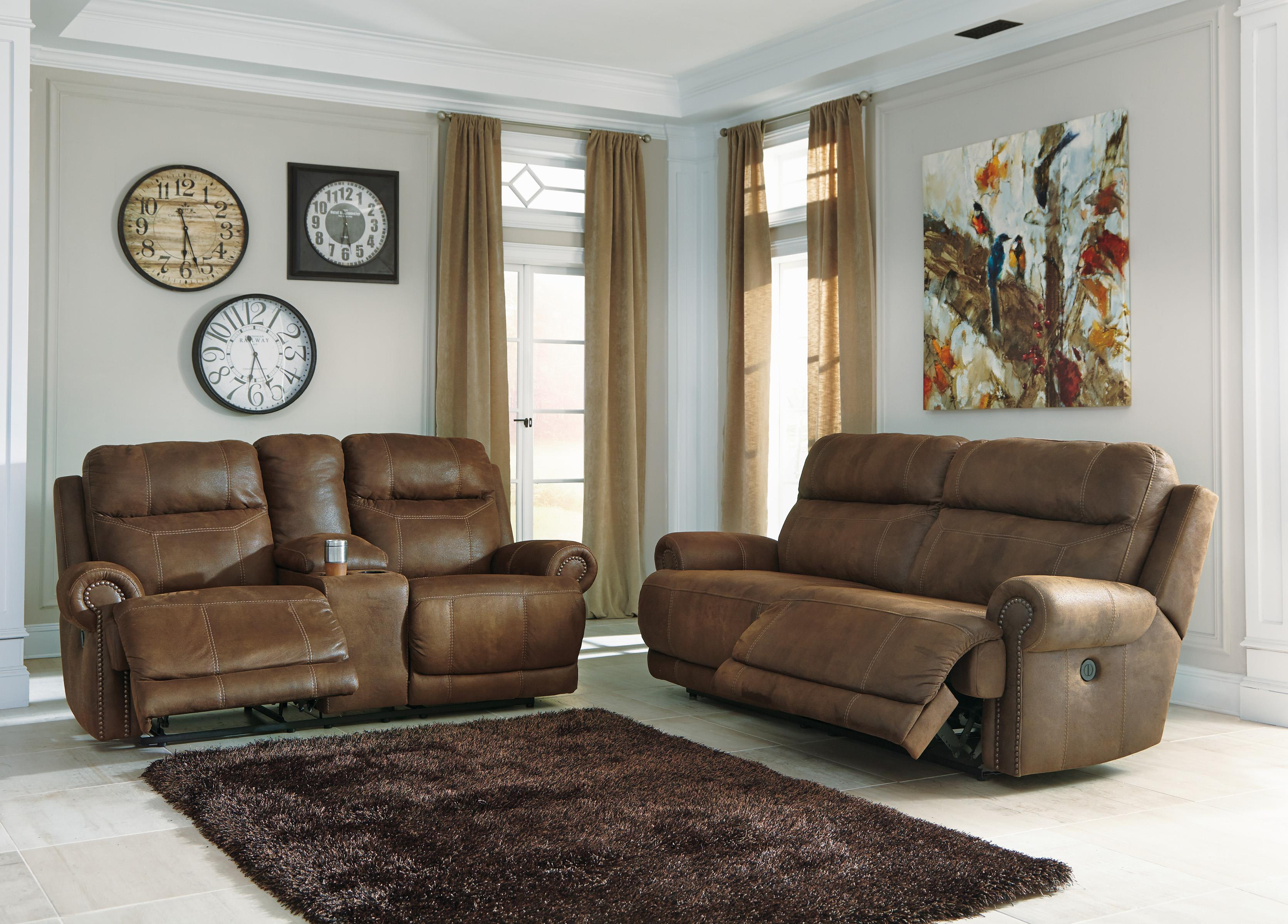 Austere - Brown Power Reclining Living Room Group by Ashley Signature Design at Rooms and Rest