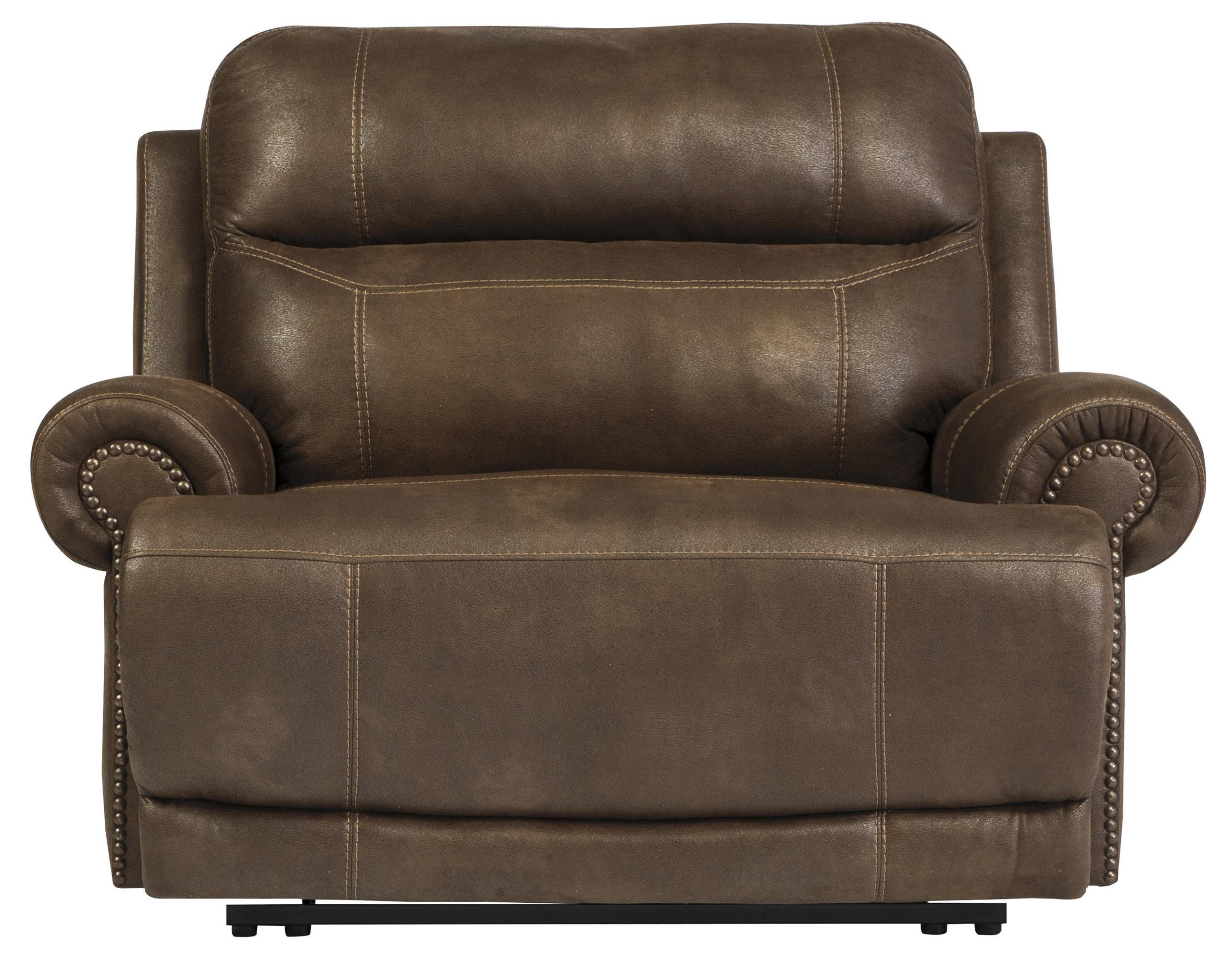 Austere - Brown Zero Wall Recliner by Signature Design at Fisher Home Furnishings