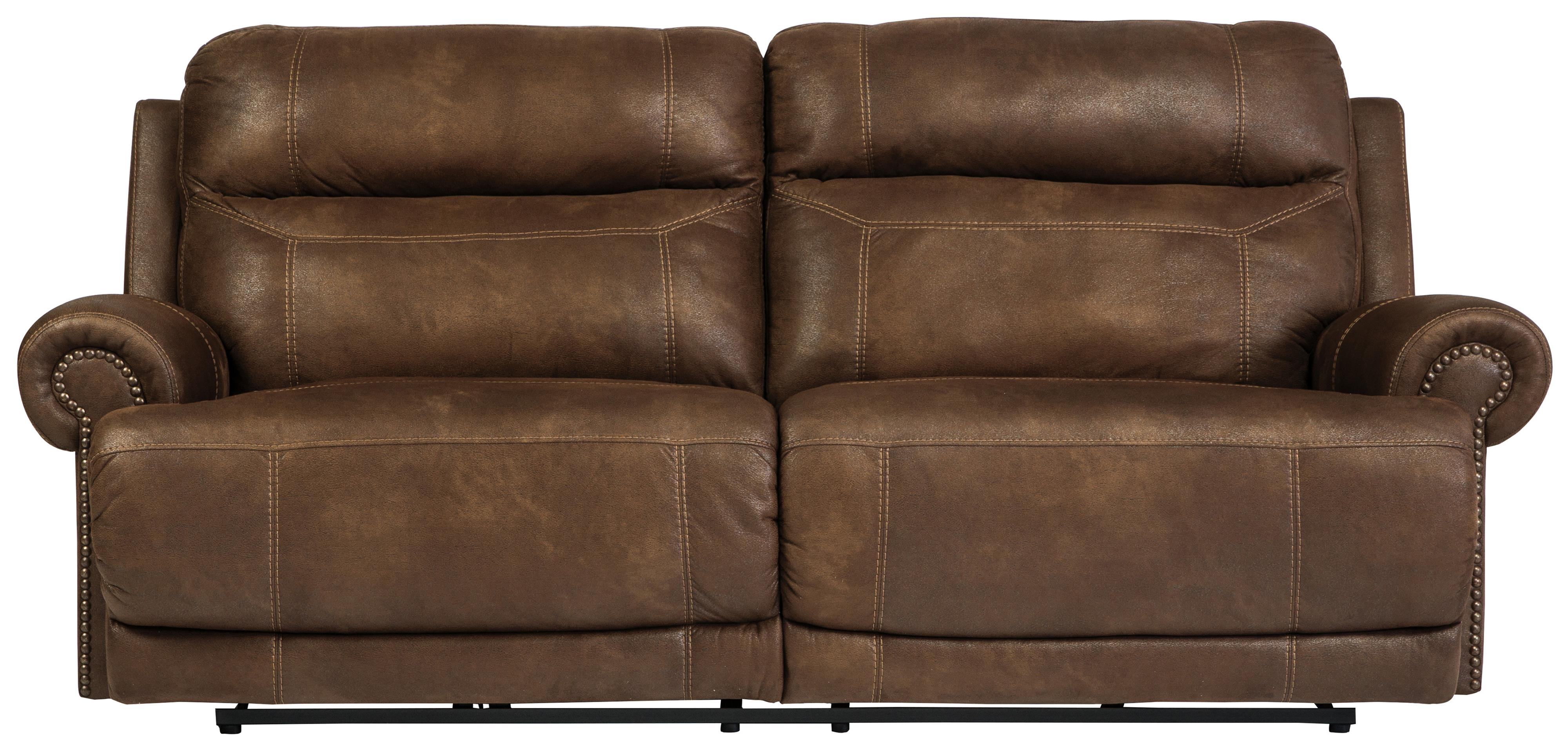 Austere - Brown 2 Seat Reclining Sofa by Signature Design at Fisher Home Furnishings