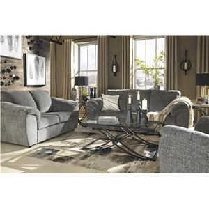Slate Sofa and Recliner Set