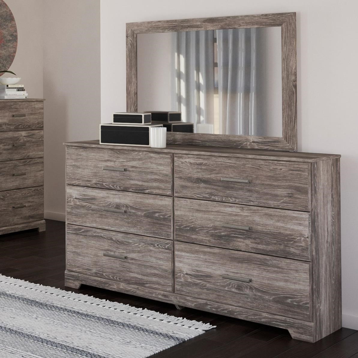 Ralinski Dresser & Bedroom Mirror by Signature Design by Ashley at Zak's Warehouse Clearance Center