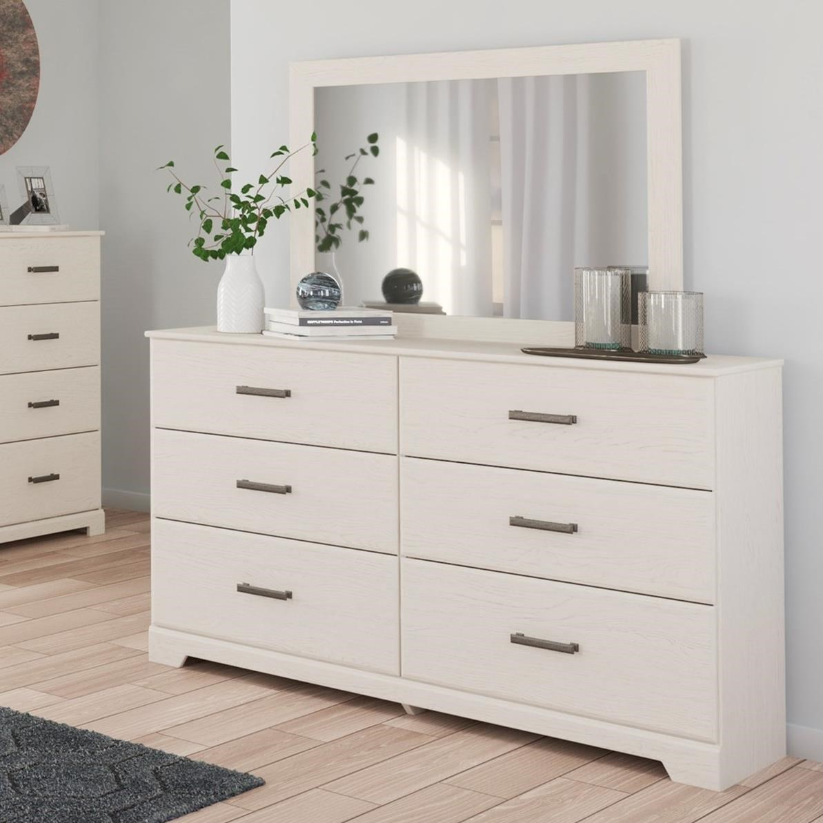 Stelsie Dresser & Bedroom Mirror by Signature Design by Ashley at Household Furniture