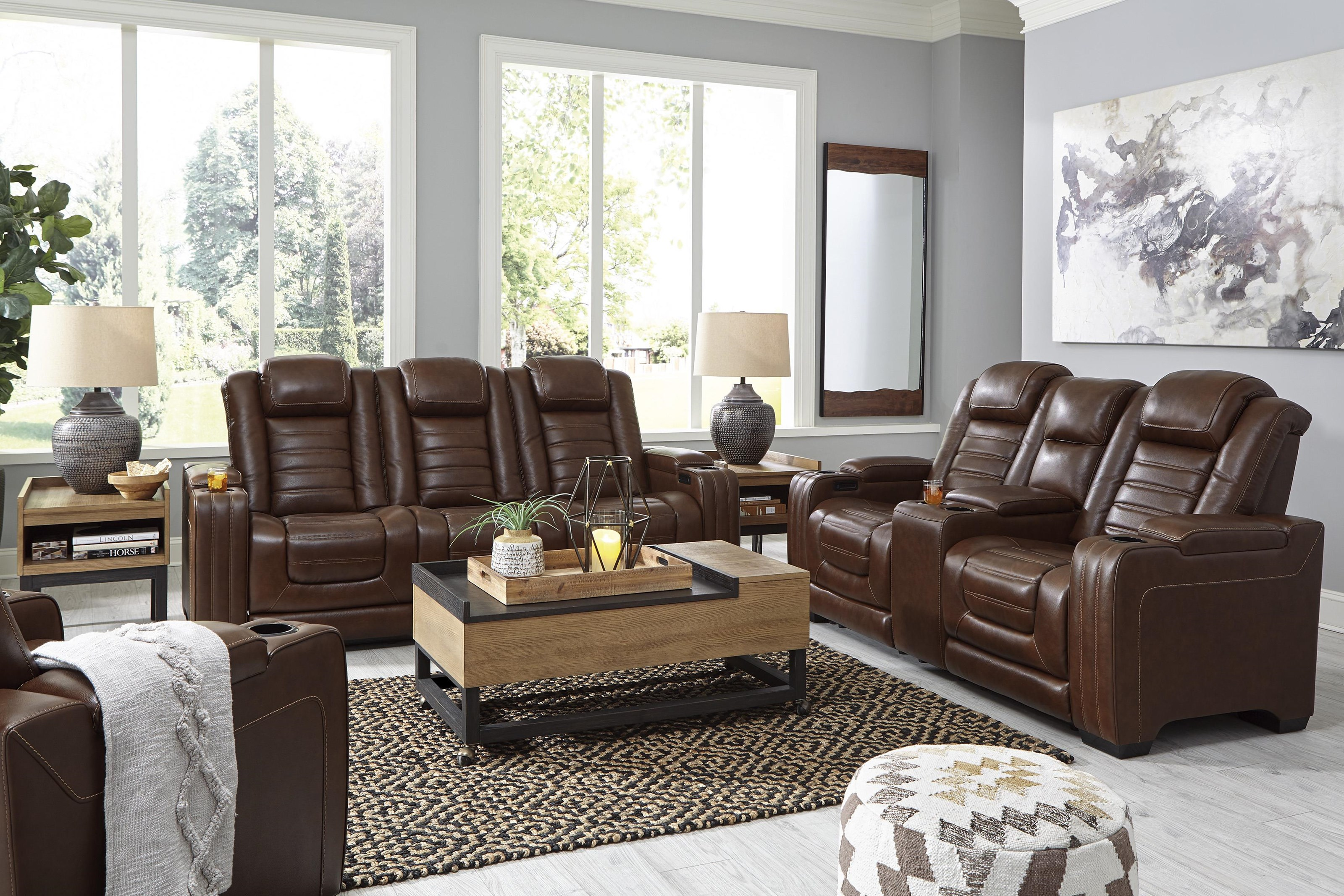 Backtrack Poer Recliner Sofa and Power Recliner Set by Signature Design by Ashley at Sam Levitz Outlet
