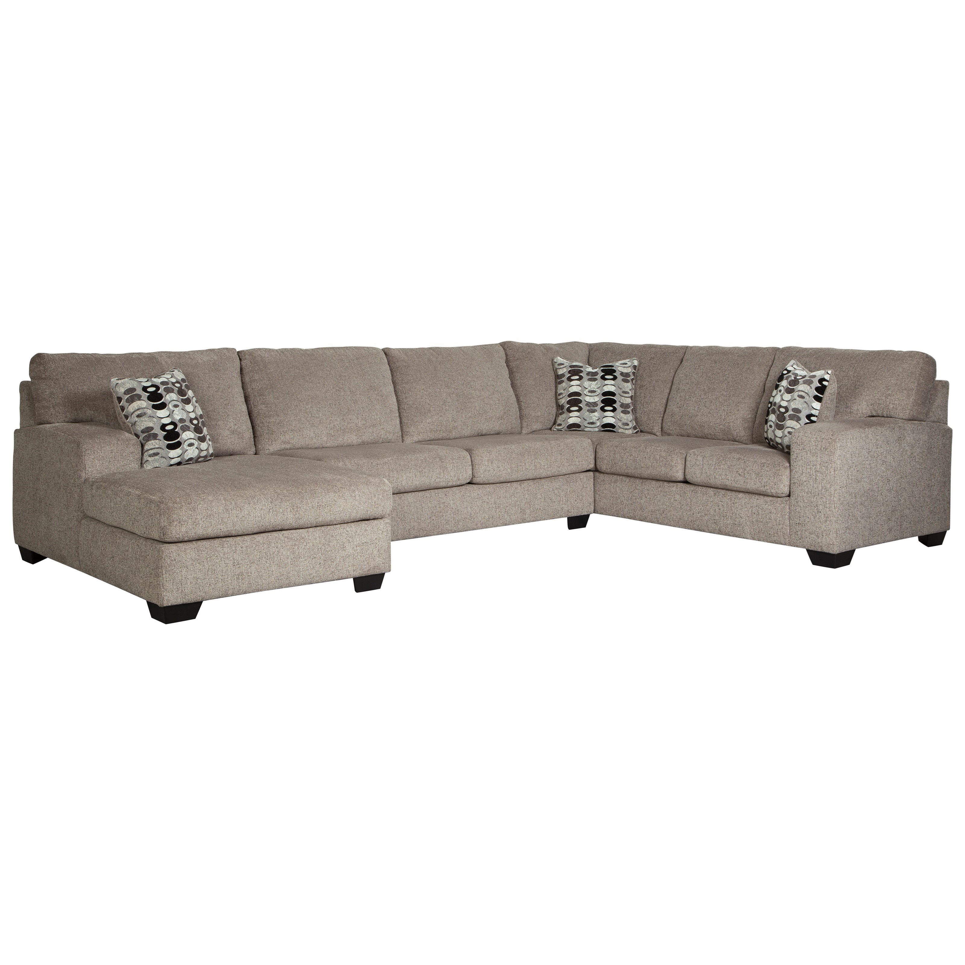 Breck Platinum 3-Piece Sectional by Signature at Walker's Furniture