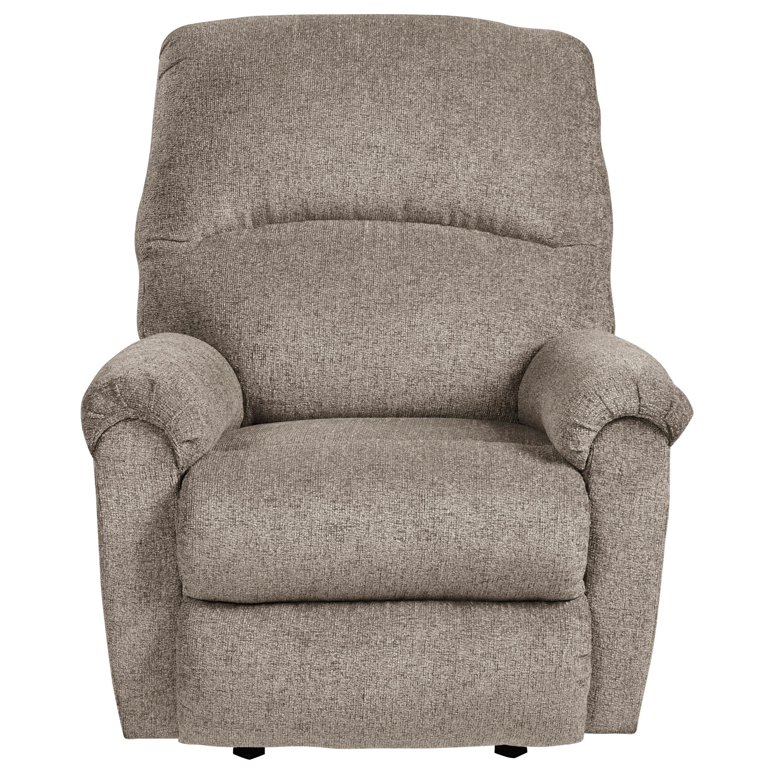 Breck Platinum Rocker Recliner by Signature at Walker's Furniture