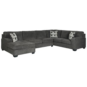Contemporary 3-Piece Sectional with Chaise