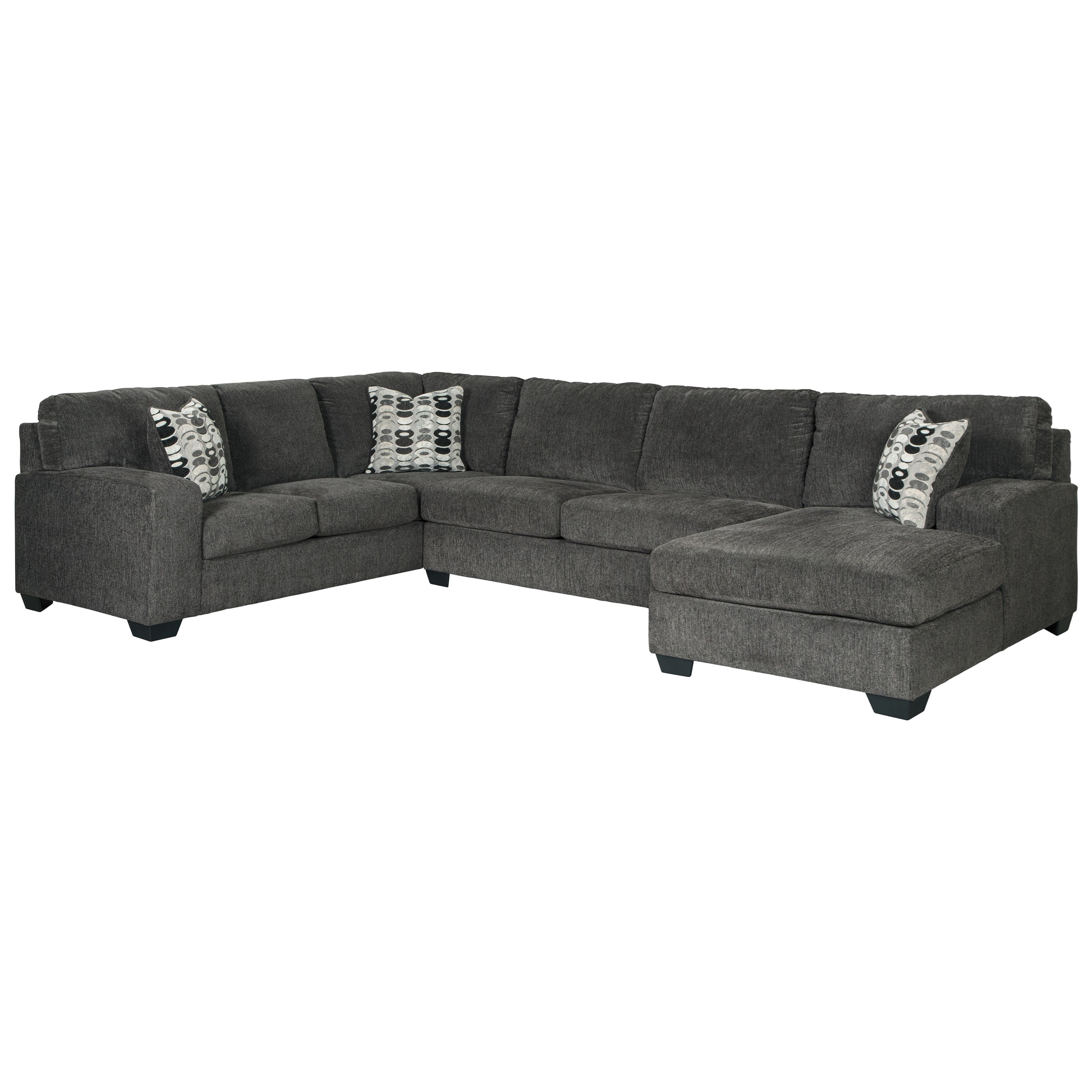 Breck Smoke 3-Piece Sectional by Signature at Walker's Furniture
