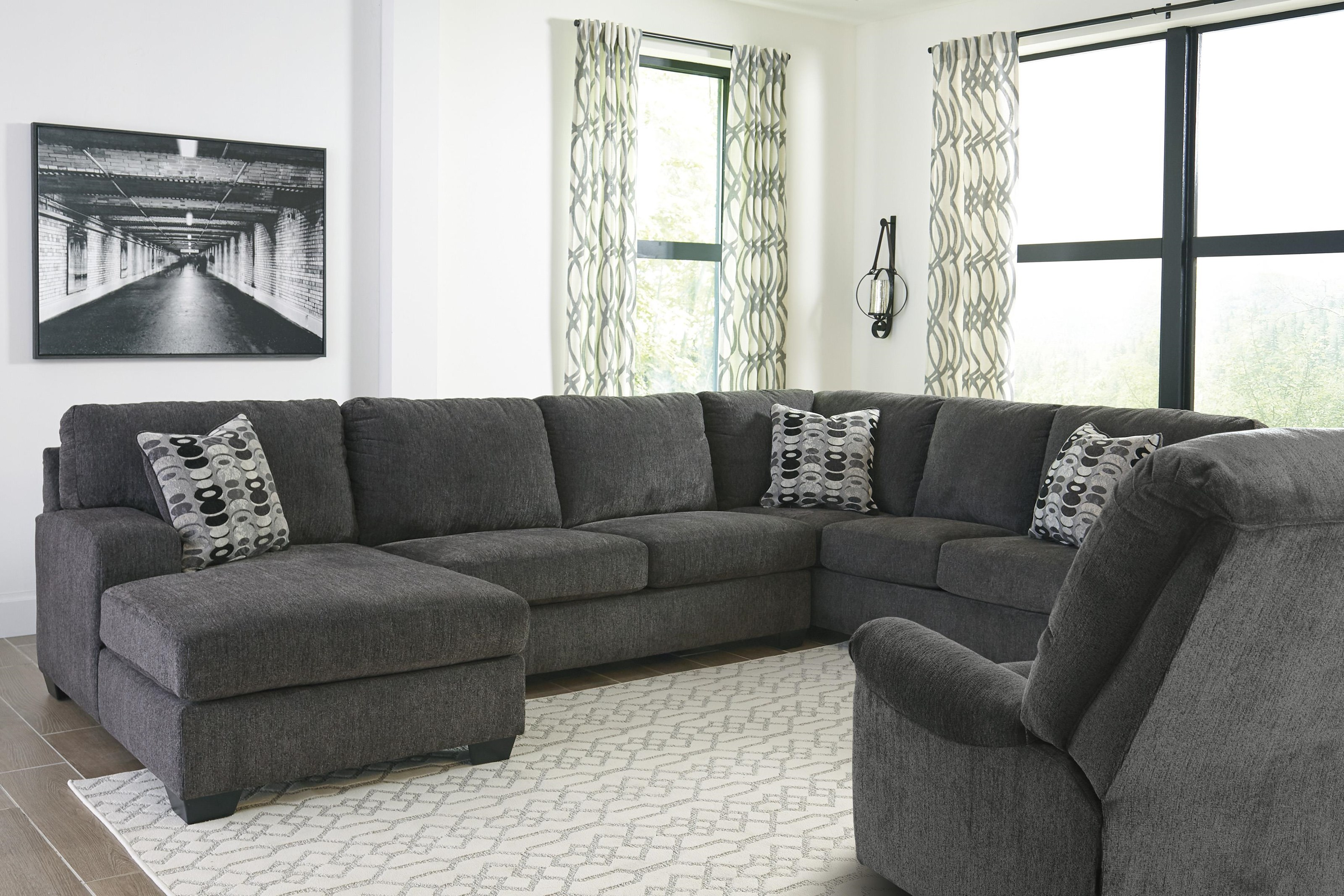 Ballinasloe 3 PC Sectional and Recliner Set by Signature Design by Ashley at Sam Levitz Furniture