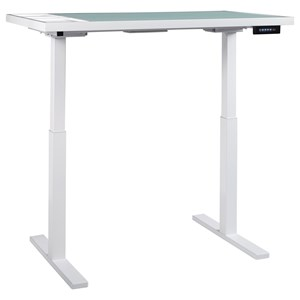 White Finish Standing Desk/Adjustable Height Desk with Electric Powered Lift