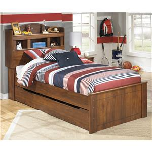 Twin Bookcase Bed with Trundle Under Bed Storage Unit