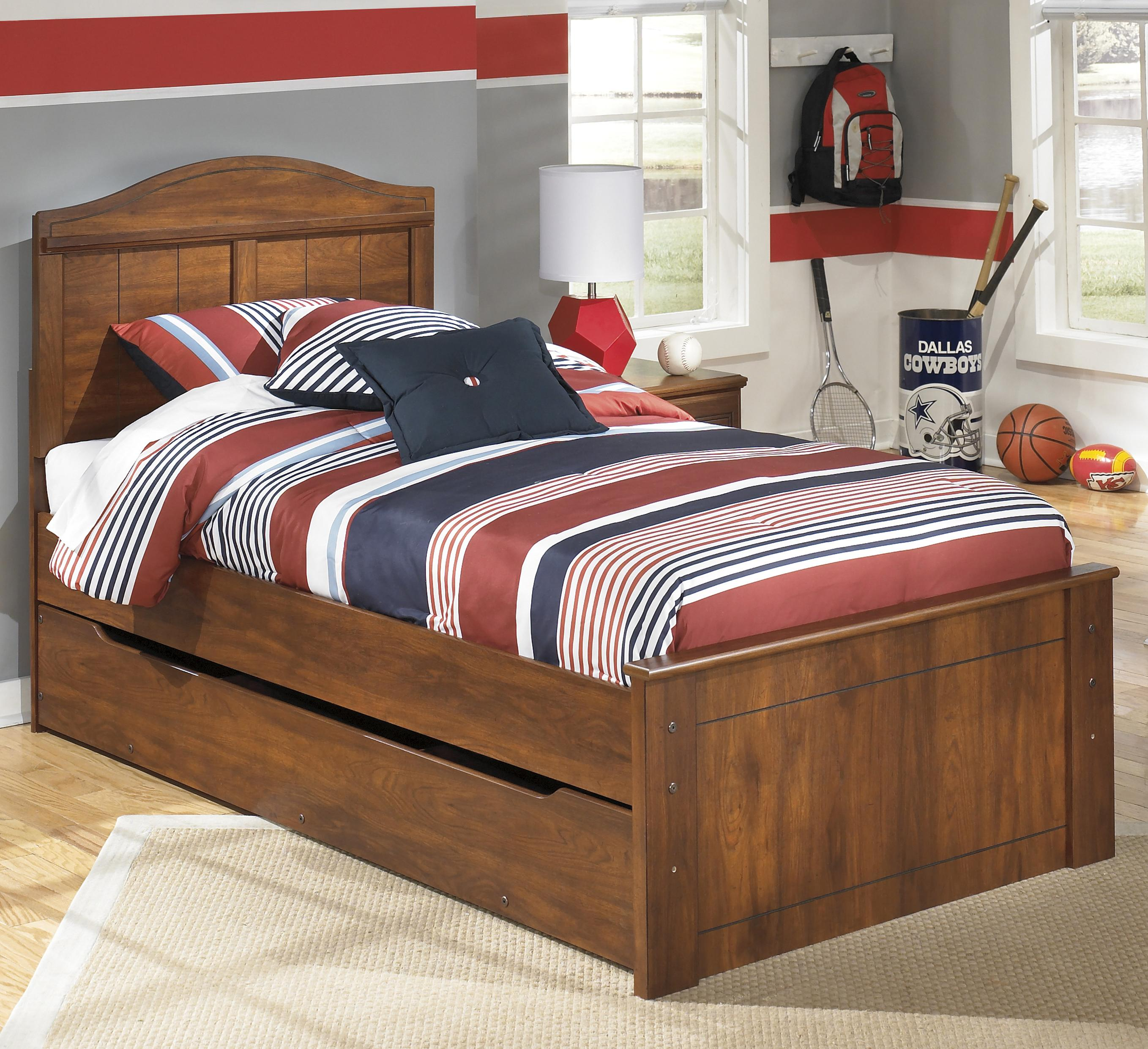 Barchan Twin Panel Bed with Trundle Storage Unit by Signature Design by Ashley at Sparks HomeStore