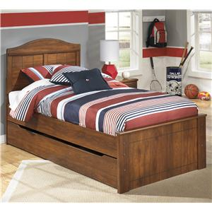 Twin Panel Bed with Trundle Under Bed Storage Unit