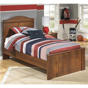 Twin Panel Bed with Arched Headboard