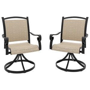 Set of 2 Sling Swivel Chairs