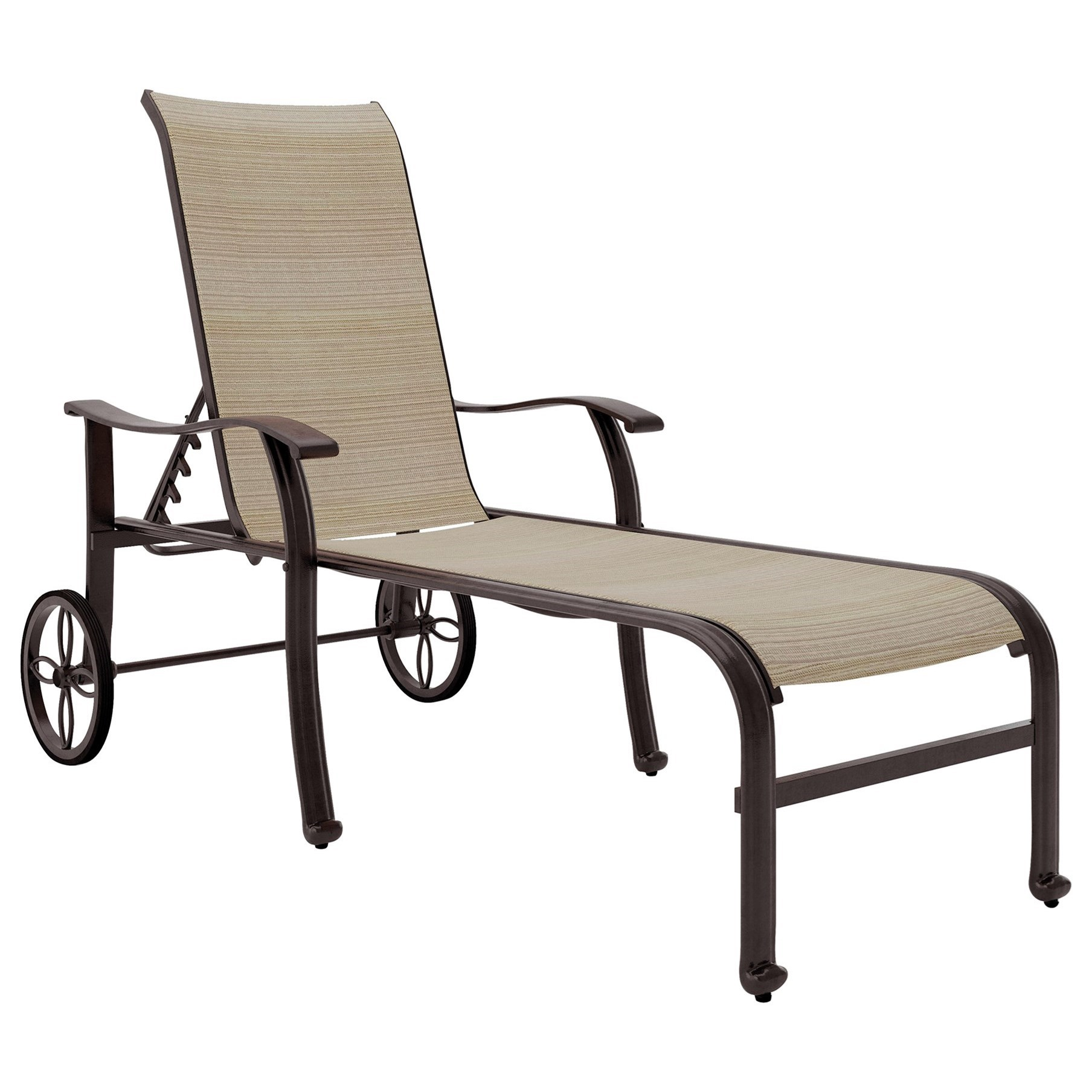 Bass Lake Sling Chaise Lounge by Signature Design by Ashley at Lapeer Furniture & Mattress Center