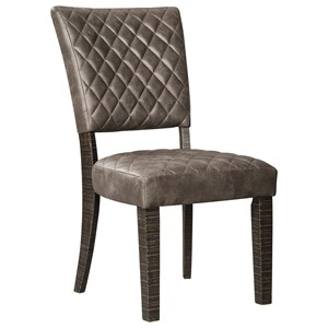 Dining Side Chair with Quilted Upholstery Pattern