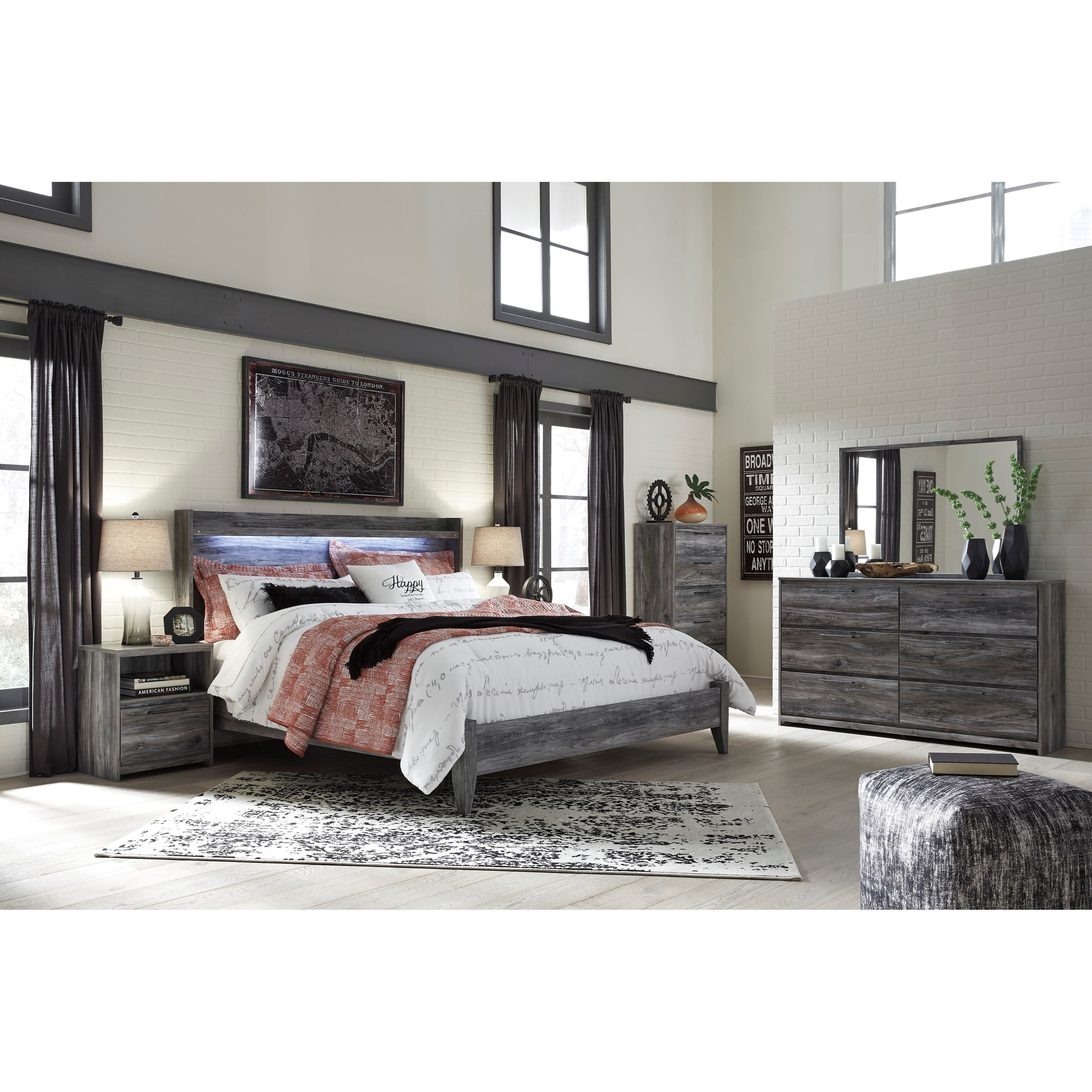 Baystorm King Bedroom Group by Ashley (Signature Design) at Johnny Janosik