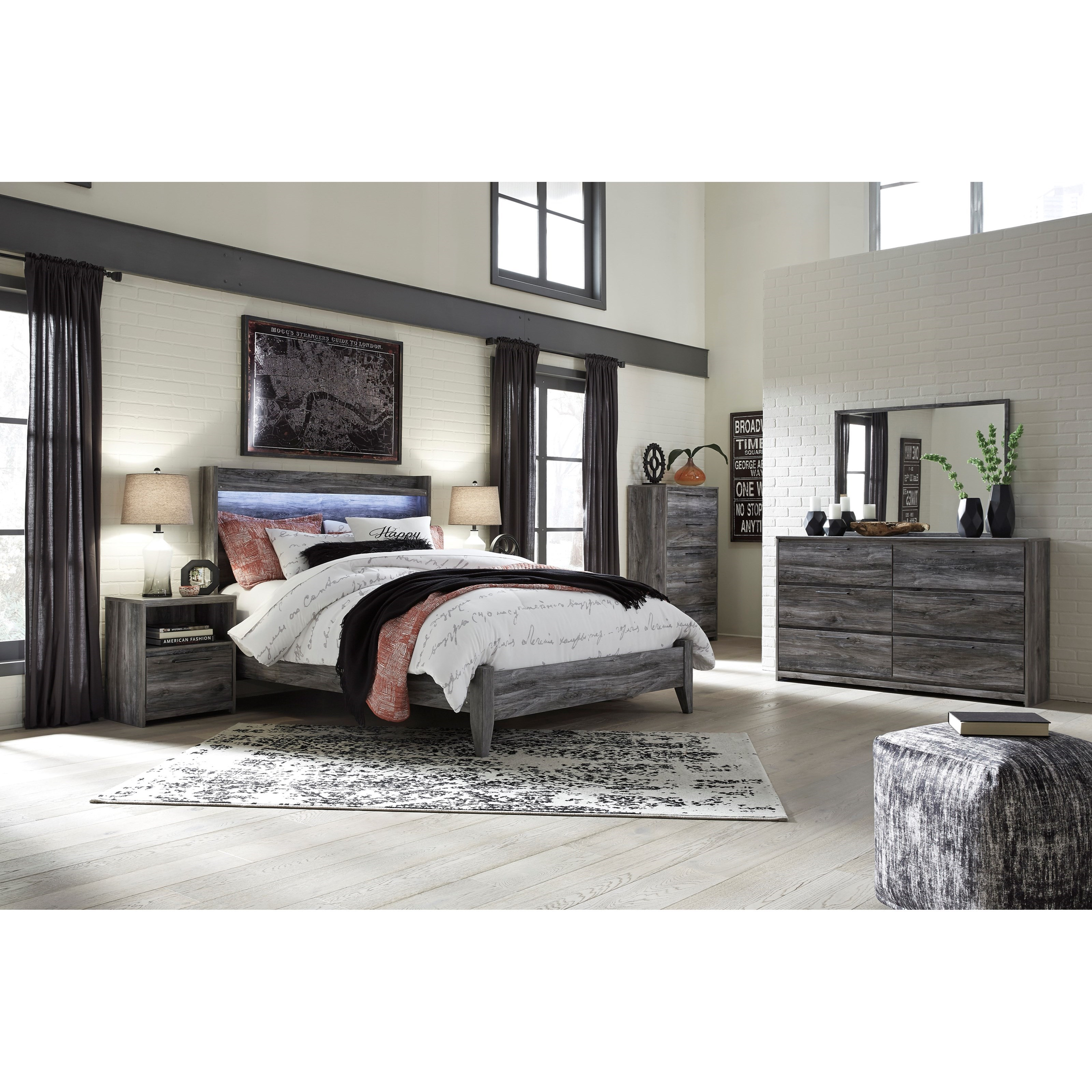 Baystorm Queen Bedroom Group by Signature Design by Ashley at Zak's Warehouse Clearance Center
