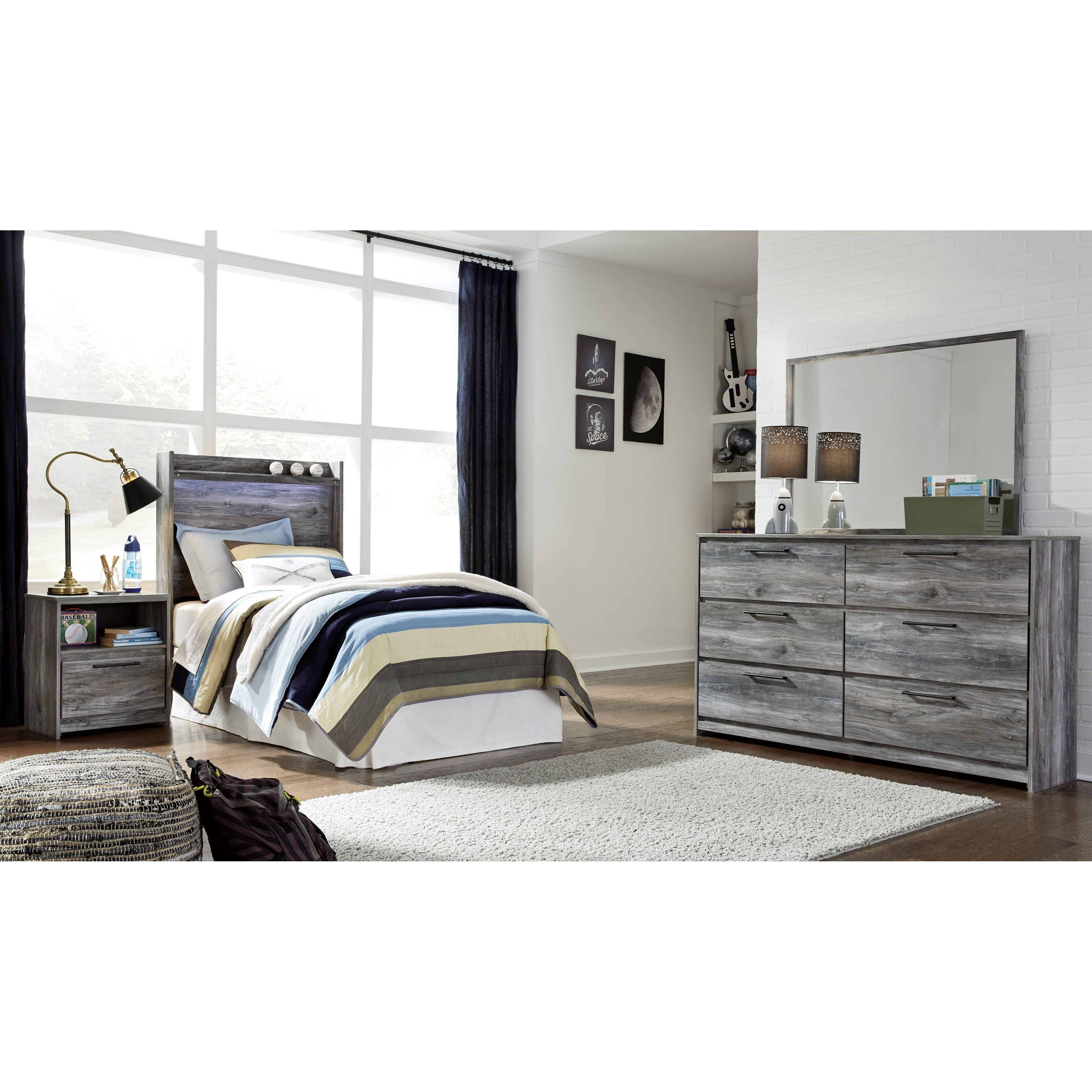 Baystorm Twin Bedroom Group by Signature Design by Ashley at Northeast Factory Direct