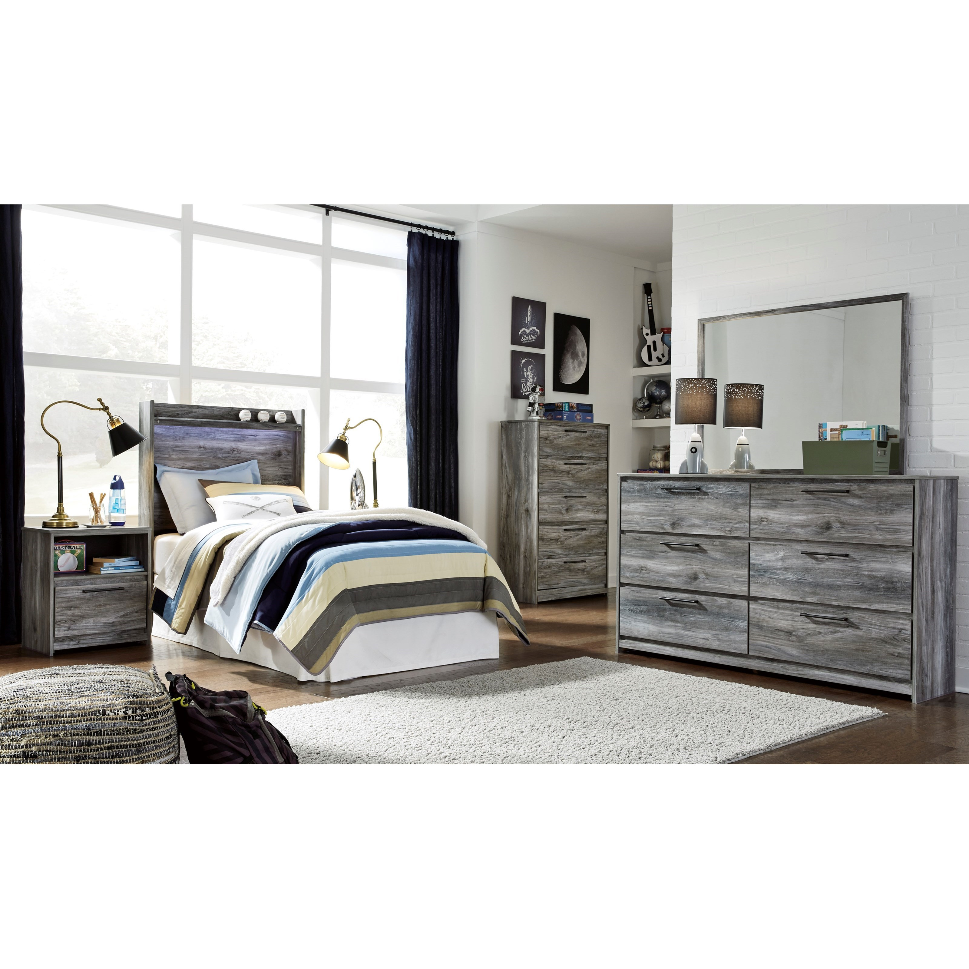 Baystorm Twin Bedroom Group by Ashley (Signature Design) at Johnny Janosik