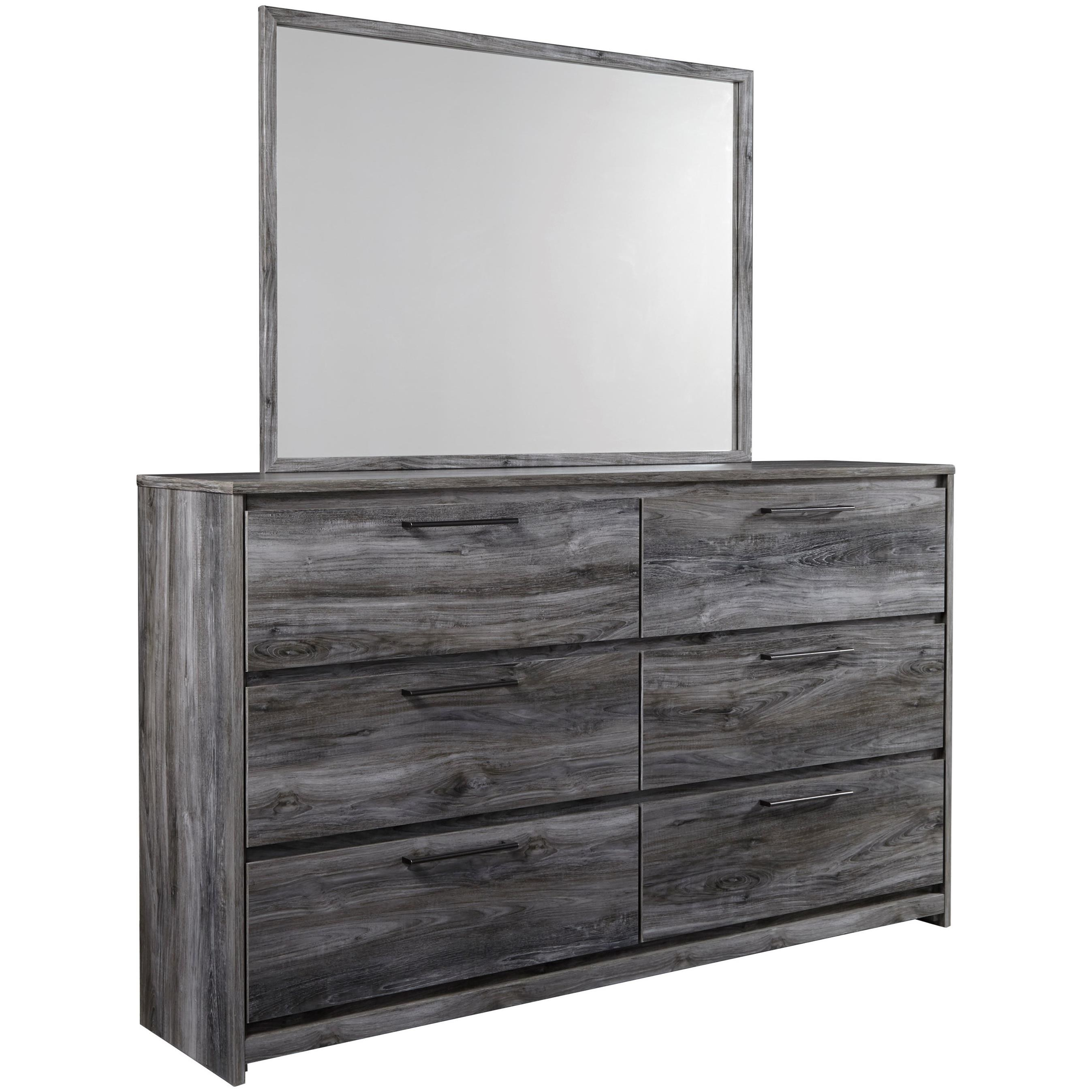 Baystorm Dresser & Mirror by Signature Design by Ashley at HomeWorld Furniture