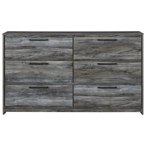 Contemporary 6-Drawer Dresser with Finished Drawer Interiors