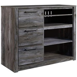 Contemporary Media Chest with Adjustable Shelves