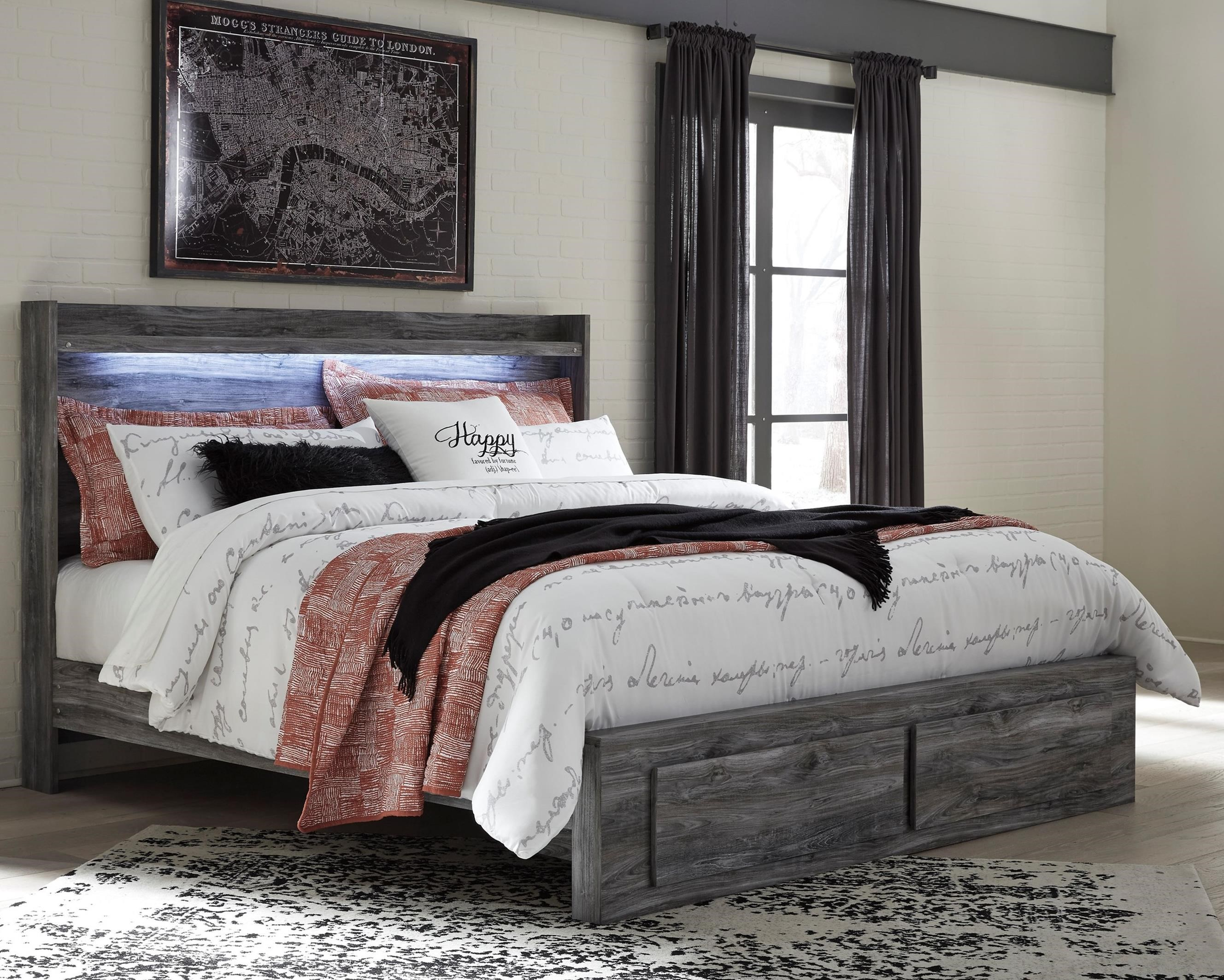Baystorm King Panel Bed with Storage Footboard by Signature Design by Ashley at Sparks HomeStore