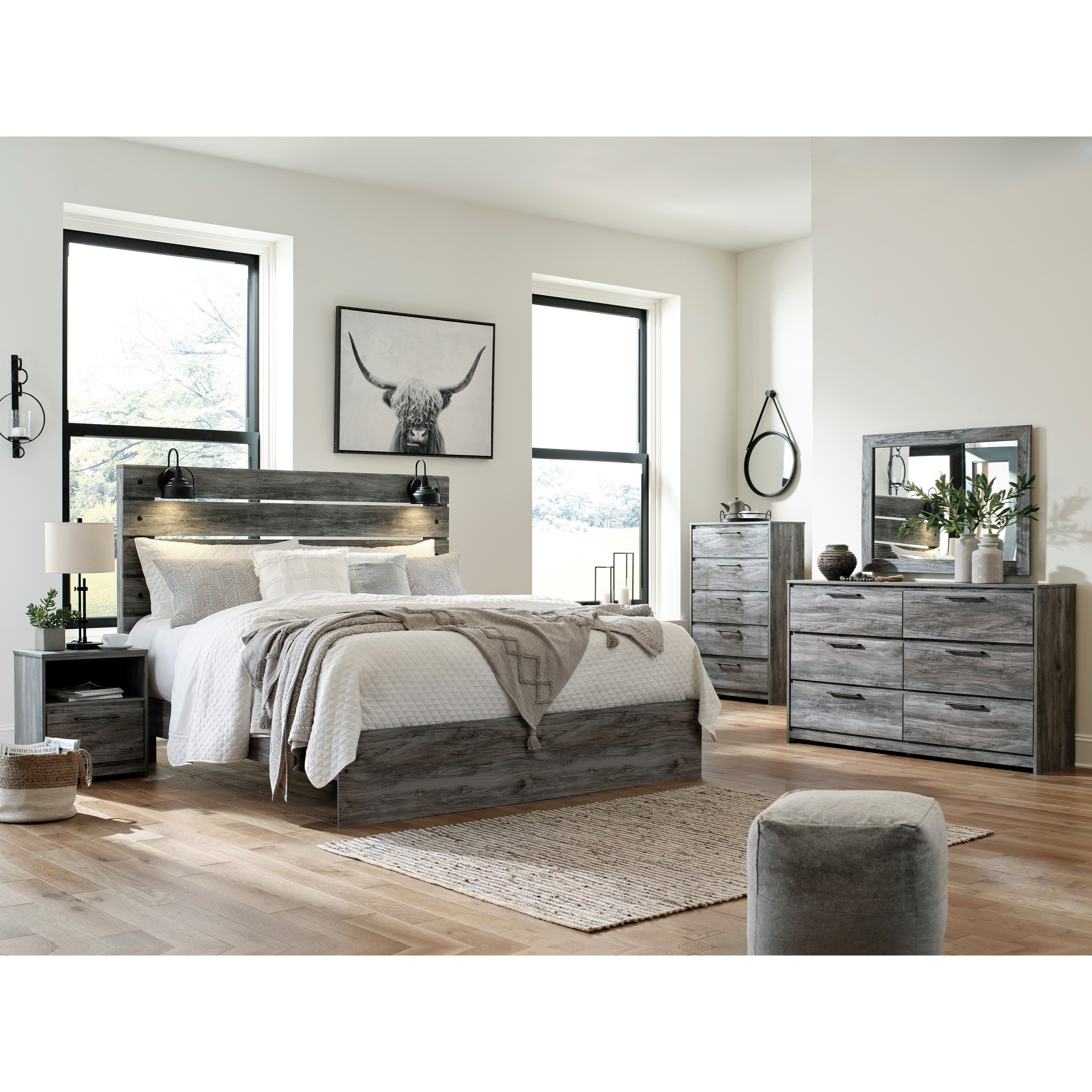 Baystorm King Bedroom Group by Benchcraft at Virginia Furniture Market