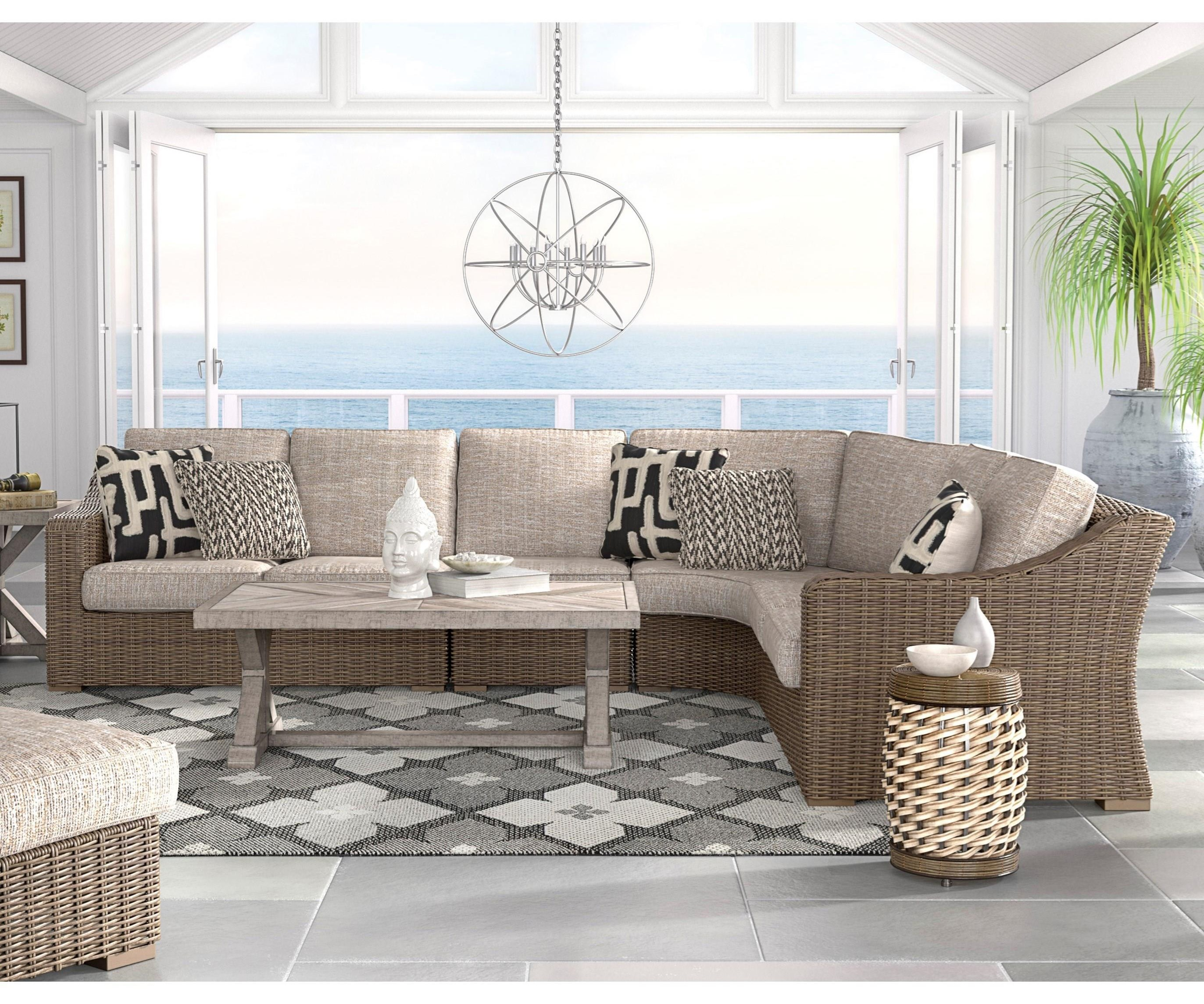 Beachcroft 3 Piece Resin Wicker Sectional Set by Signature Design by Ashley at Value City Furniture
