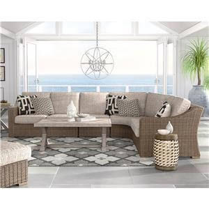 3 Piece Resin Wicker Sectional Set