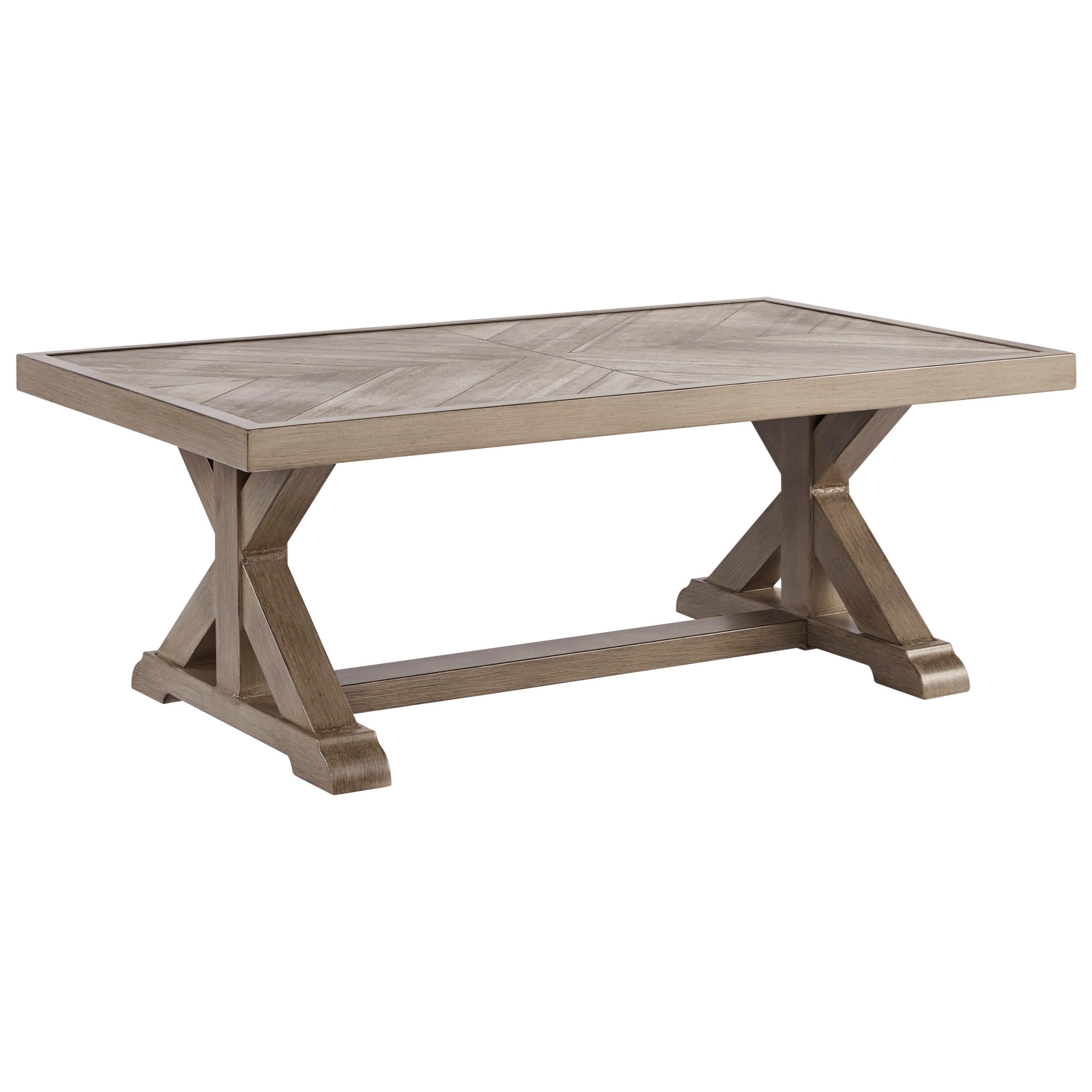 Beachcroft Rectangular Cocktail Table by Signature Design by Ashley at Lapeer Furniture & Mattress Center